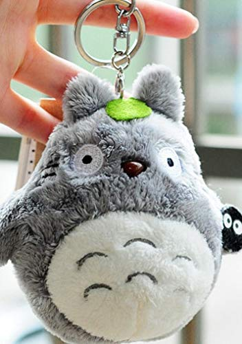 CGDZ Mini 10cm, Mein Nachbar Totoro Plüschtier Kawaii Anime Totoro Schlüsselbund Spielzeug, Gefüllte Plüsch Totoro Puppe grau (Giraffe Große Gefüllte)