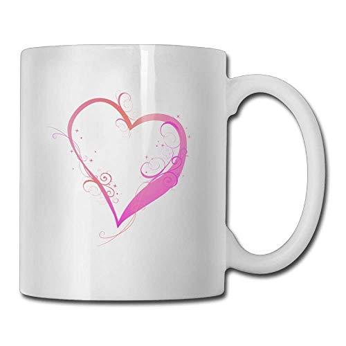 Nisdsgd Colored Beautiful Heart Coffee Mugs 11 Oz Ceramic Tea Cup for Family and Friend 3.14W x 3.74H(8x9.5cm) 16 Oz Tall Iced Tea