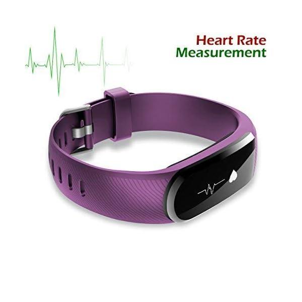 CHEREEKI Pulsera Actividad [versión Mejorada] con Control de frecuencia cardíaca podómetro Monitor, Smartwatch Pulsera… 5