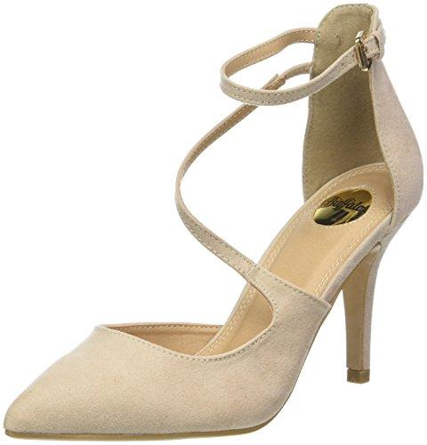 Clogs Pumps (Buffalo Shoes Damen 315349 BHWMD IMI Suede Riemchensandalen, Beige (Nude 01 00), 40 EU)