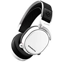 SteelSeries - Arctis Pro Wireless DTS Headphone: X v2.0 Surround Sound Gaming Headset for PS4 and PC (White) | 61474 PC