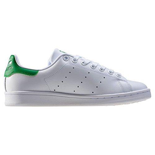 adidas Stan Smith W, Chaussures de Tennis Femme Blanc Cassé (Ftwbla/ftwbla/verde)