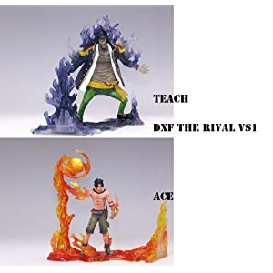 Piece / ONE PIECE DXF figures THE RIVAL vs1 whole set of 2 [port gas ? D ? Ace & Blackbeard TEACH] fire and fight the darkness 4