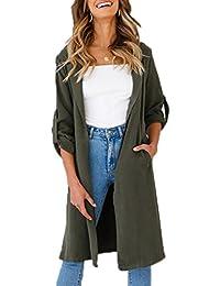 3c20c5322fb4b Amazon.it  spolverino donna - Verde   Cappotti   Giacche e cappotti ...