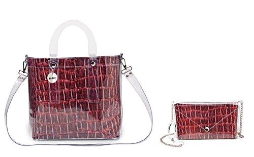 "BI-BAG borsa donna modello DAILY ""ANIMAL COLLECTION"" Rosso Scuro"