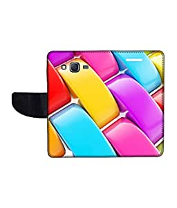 KolorEdge Printed Flip Cover For Samsung Galaxy On7 Multicolor - (1479-55KeMLogo10956SamOn7)