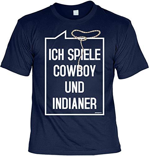 Kostüm Cowboy Themen - Sprüche/Karneval/Kostüm-Shirt Bekleidung/Freizeit/Thema Fasching: Ich Spiele Cowboy und Indianer