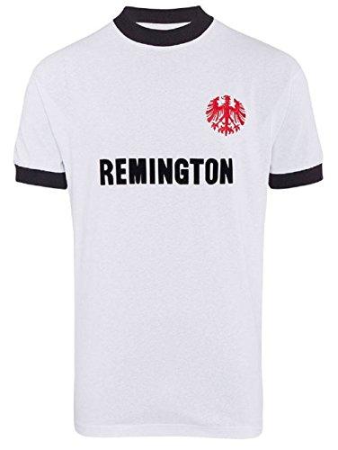 Eintracht Frankfurt 1974 Retro Trikot (L, Weiß/Schwarz)