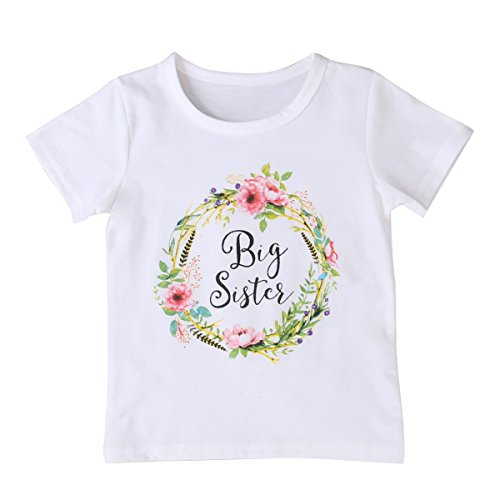 Infant-Toddler-Baby-Girls-Cotton-Sisters-Matching-Clothes-T-shirt-Tops-Outfits-Mystyles