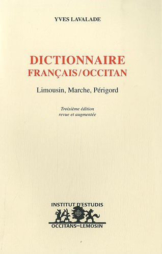 Dictionnaire franais/occitan : Limousin, March, Prigord