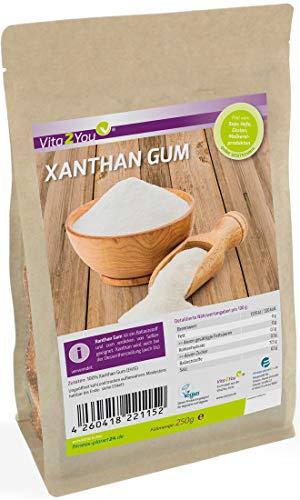 Xanthan Gum 250g im Zippbeutel - Glutenfrei - feines Xanthan Pulver in Lebensmittelqualität - Premium Qualität - Xanthum Gum