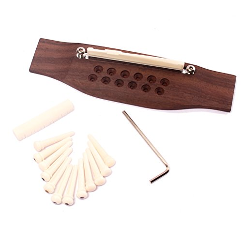 ROSENICE 12 string Martin chitarra ponte in palissandro + Pins/sella/dado di osso
