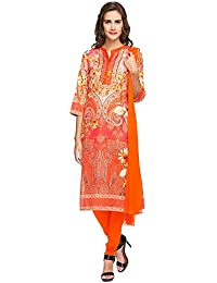 [Sponsored]Haute Curry By Shoppers Stop Womens Mandarin Neck Printed Churidar Suit