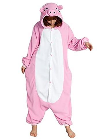 HSTYLE Adulte Unisexe Onesies Kigurumi Pyjamas Animal Costumes de Cosplay de bande dessinée Vêtements de nuit