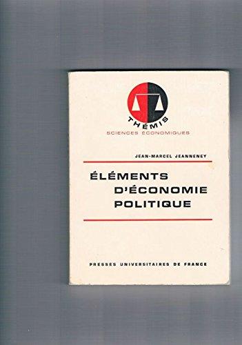 Eléments d'économie politique.