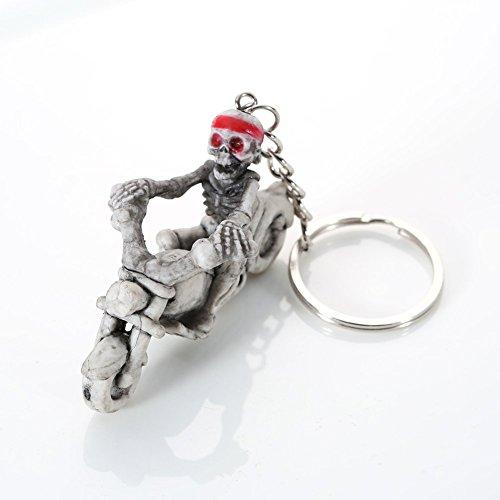 skgardeniamy Skeleton Riding Ein Motorrad Anhänger Schlüsselanhänger Geldbörse Handtasche Schlüsselanhänger Ornament Geschenk Halloween