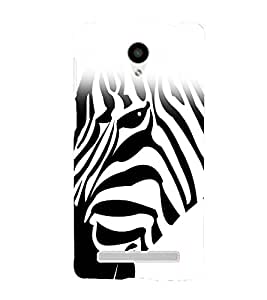 printtech Nature Animal Zebra Back Case Cover for VIVO Y28 Y28L