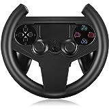Househome Gaming Lenkrad, Compact Racing Wheel für PS4, Rennspiel, Schwarz