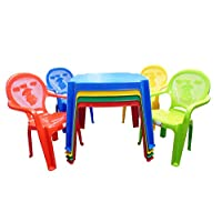 Kids / Childrens Premium Table and Duck Chair Set - Chairs with Duck on (Choose Colour)