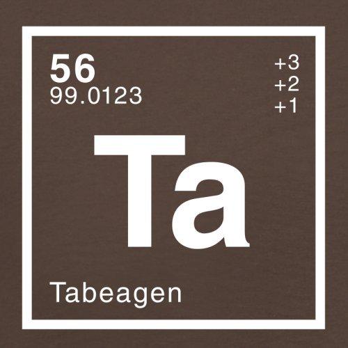 Tabea Periodensystem - Herren T-Shirt - 13 Farben Schokobraun