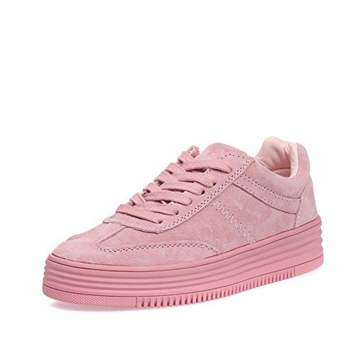 Petites chaussures blanches/ tie-back chaussures plate-forme/Wild sport et chaussures de loisirs avec plat B