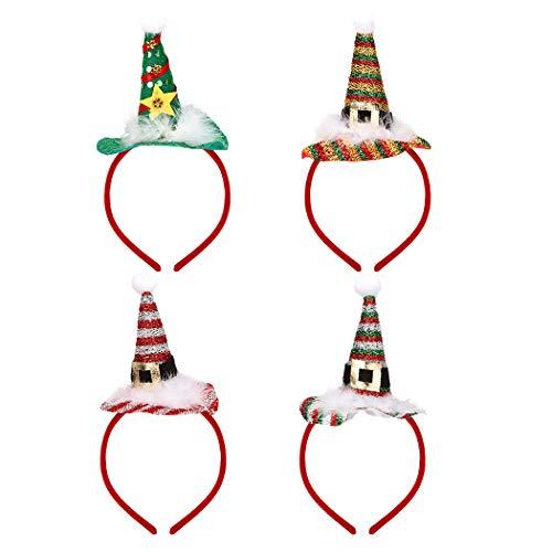 Weihnachtliche Kreative Kostüm - ZOYLINK 4 STÜCKE Weihnachten Stirnband Kreative Hut Design Kostüm Stirnband Party Haarband