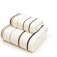 Affe 2 piezas 100% algodón hogar toallas – suave cómodo absorbente toalla de baño Set