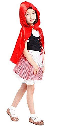 Inception Pro Infinite Größe M - 4 - 5 Jahre - Kostüm - Verkleidung - Karneval - Halloween - Rotkäppchen - Fabeln - Rot - Kleines Mädchen (Mädchen Kleine Halloween 5)