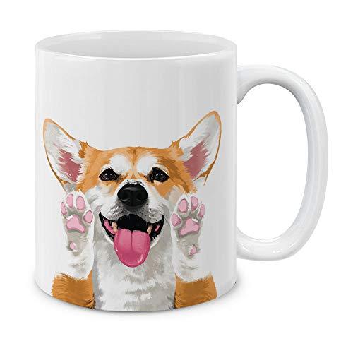 MUGBREW Kaffeetasse/Teetasse aus Keramik, Sibirischer Husky, 325 ml Cute Red Pembroke Welsh Corgi Full Portrait (Reebok-finish)