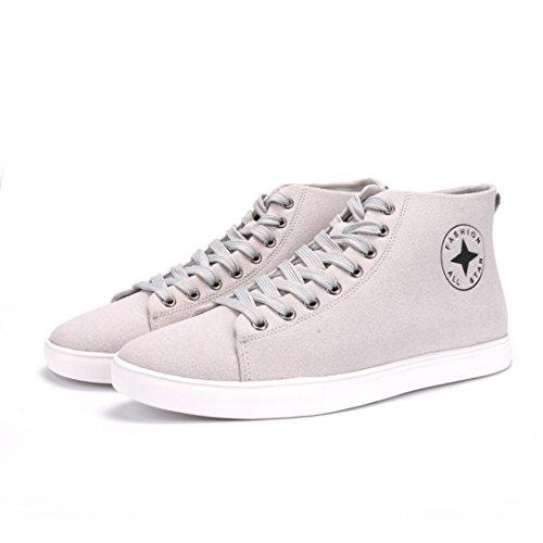 Men's Classic Style Flat Anti Slip Skateboarding Shoes Beige