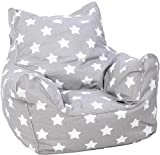 Knorrtoys 68211 Stars White Pouf pour Enfant
