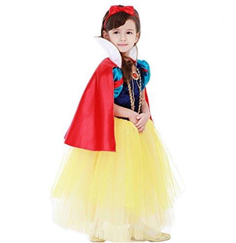Kleine Mädchen Prinzessin Schneewittchen Kostüm Kleid,Fanryn Schneewittchen Halloween Cosplay Geburtstag Party Kleid Fancy Kleid Mädchen Kinder Kleid Halloween Damen (Mama Kostüm Monster Baby Und)