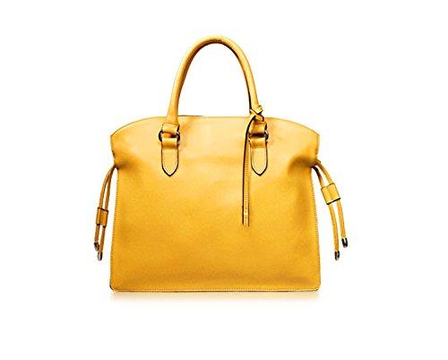 PACK Borse In Nappa Borse In Pelle Di Grande Concessione In Licenza Europa E Negli Stati Uniti Ladies Leisure Messenger Bag,A:RoseRed C:LemonYellow