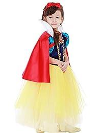 D'amelie Damen Kostüm Kleid Schneewittchen Halloween Cosplay