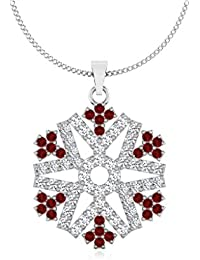 IskiUski  Yellow Gold, Diamond And Ruby Pendant For Women
