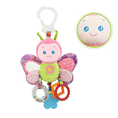 LCLrute Hand Schütteln Glocke Baby Rasseln Shaker Rassel Ring Kinderwagen hängen Spielzeug Plüsch Tier Rassel Bett Glocke Infant Baby Komfort Spielzeug (A) -
