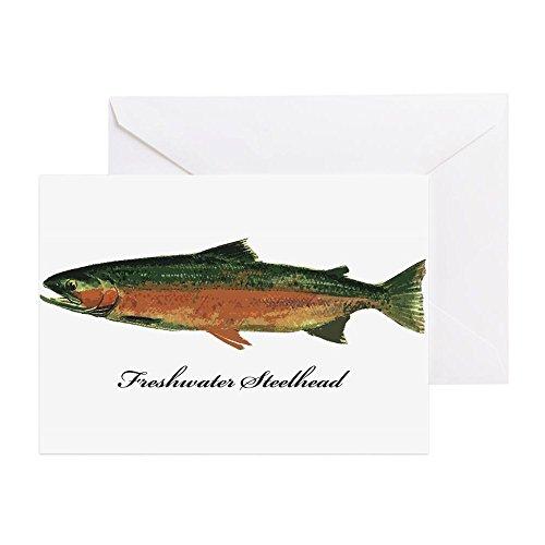 CafePress-Süßwasser Steelhead Forelle-Grußkarte, Note Karte, Geburtstagskarte, innen blanko, matt -