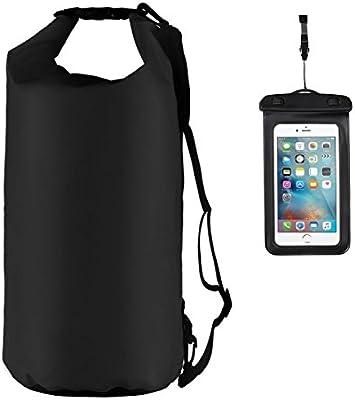 Youngdo - Bolsa Seca Impermeable / Mochila Estanca y Funda Universal para Smartphone para Actividades al Aire Libre y Deportes Acuáticos 2 Packs 500D