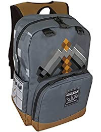 MINECRAFT - PickAxe Adventure Kids Backpack grey