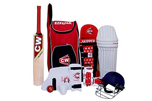 3M Storm Junior Kinder Vollständiges Set Kashmir Willow Batting Cricket Sport Kit Rot Größe 4 Alter 7-8 Jahre - Cricket-batting-kit