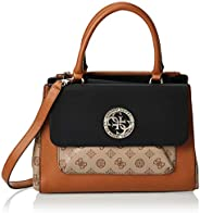 Guess Satchel Bag for Women- Cognac