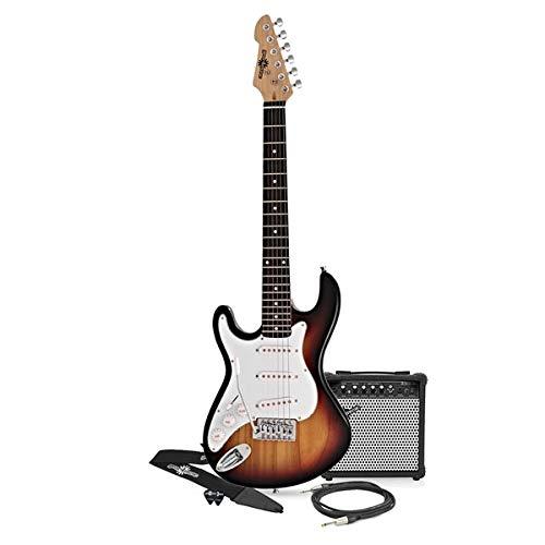 3/4 LA Left Handed Electric Guitar + Amp Pack Sunburst