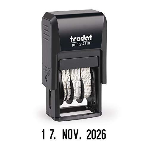Trodat Printy 4810 Datumstempel, Monat in Buchstaben, 3.8 mm, Abdruckfarbe schwarz