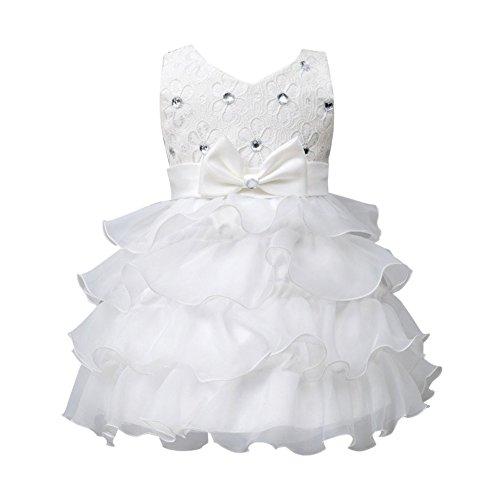 Brightup Baby Mädchen Partei Geburtstag Hochzeits Brautjunfer Prinzessin Kleid