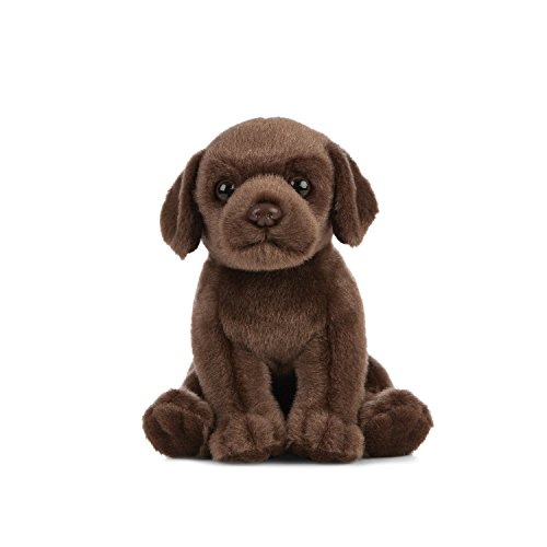 Living Nature Soft Toy - Plush Labrador Puppy, Chocolate Brown (16cm)