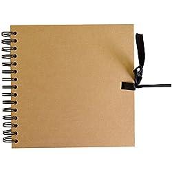 Libro de firmas formato sencillo - color madera
