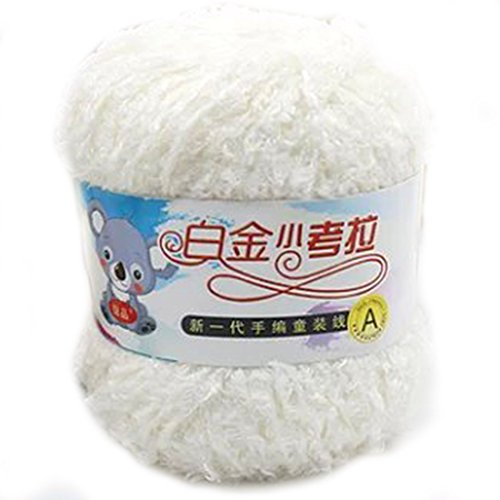 Schöne Infant Kleine Mohair Strickgarn Wolle Hand gesponnene Schal Nadel Decke Milch weiße