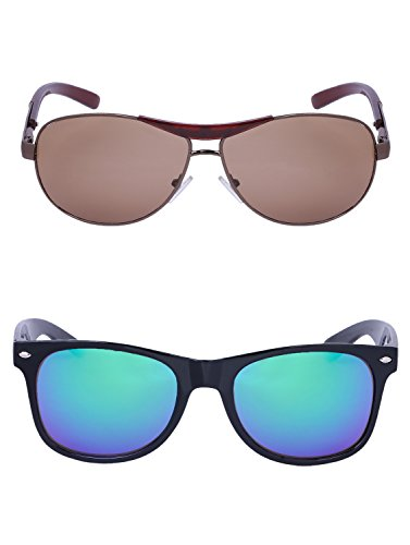 Amour-propre AmourPropre Multicolor UV Protected Unisex sunglasses Pack of 2_(AM_CMB_LP_2918.1)