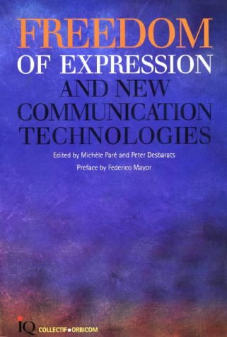 Freedom of Expression and New Information Technologies par (Broché - Dec 31, 1998)