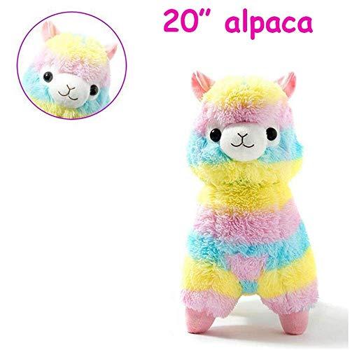 SHUNDATONG Gefüllte Lama Alpaka Llama Arpakasso Weichen Plüschtier Puppe Plüschfiguren (20 Zoll)